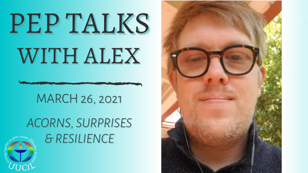 Acorns, Surprises and Resilience. Alex's Pep Talk for March 23rd Image